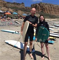 Mr. McNeill visited the Poetic Surfing Spring at Sage seminar to enjoy surfing, yoga and reflection.