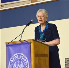 Sr. Veronica Brand shared her history, and her current work
