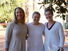 Third grade teacher Ashley Miller '86, Maggie Doyne and Caroline Porter '06