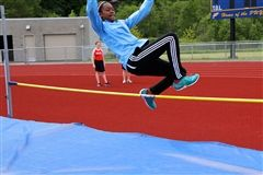 Grade 8 high jumper and league champion Amhina Webb
