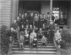 faculty and students of Washington College, c.1891