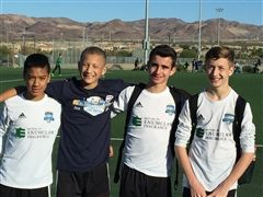 Julen, second from right, and his teammates in Las Vegas.