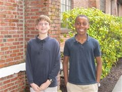Carson McKee, Grade 7 (left) and Ukweli Mentee Dennis, Grade 8 (right)