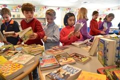 The annual book fair is paradise for Lower Schoolers.