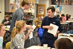 Seventh graders get creative for an entire day of poetry and art.