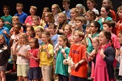 Lower Schoolers perform on Earth Day.