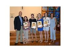 Headmaster Peter Benedict with Tammy Friedman, Jennifer Goldberg, Danielle Wishka, Lisa Winer, and Amy Carpenter