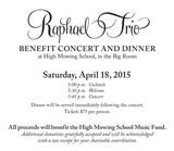 Raphael Trio Benefit Concert and Dinner, April 18 at High Mowing School