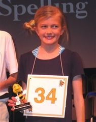 Paige Connery - 2nd Place Park Record 2015 Spelling Bee