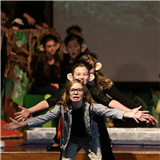 "A scene from the fourth-grade play, ""The Story of Jane."""