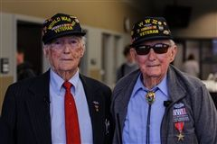 Edward and Edsel Frazier from Smithville, TN fought in the Battle of the Bulge in WWII.