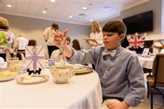 Sixth graders enjoyed afternoon tea provided by Parent Connect.