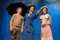 Theater students rehearsing for Mary Poppins