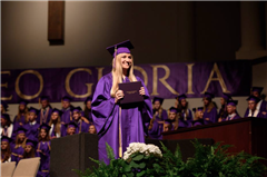 Graduating seniors received their diplomas at this year's Commencement.