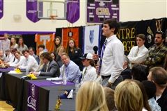 Players thanked their communities before signing official letters of intent.