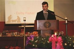 Colby Fisher offered his reflection on joy in the Advent season